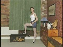 Stockings dildo, Milf dildo, British milf, Stocking white, With white, White stocking