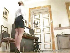 معلم, مدرسات روسيات, بنت تعاقب بنت, عقاب أقدام, معاقبة بنات, ثلاثي