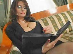 Bus, Mature, Secretary, Busty mature, Mature sex, Secretary mature