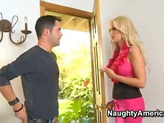 Sons friend, Blond milf, Younger, Lon to, To young, Son fuck