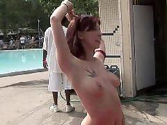 Public busty, Spreads her, Spreading legs, Sexy leg, Sexy busty, Nudist amateur