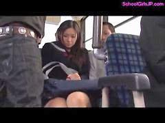 Liseli otobüste, Otobüs otobüste, Okulkızı, Otobüs parmaklama, Otobüs sürtme, Sürtme