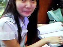 دختر دبیرستانی, دانشجو, تایلندی, دانش آموزان