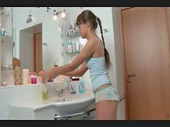 Russian, Bathroom, Slim, Bathroom girl, Russian cute, Cute fuck cute