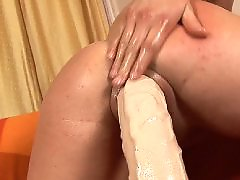 White brunette, White big, Riding sex, Riding fun, Riding big dildo, Riding a dildo