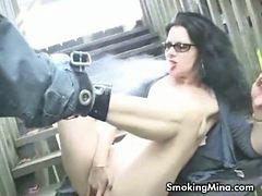 Pussy smoking, Pussy fingering, Smoking pussy, Smoking fingering, Smoking brunette, Horny brunette