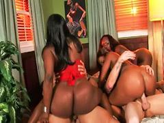 Ebony thong, Orgy group, Group orgy, Thong, Eboni big ass, Ass group