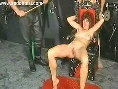 Masked, Two tied, Spanking two, Milf spanking, X master, Two slave