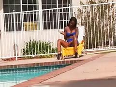 Ebony anal, Rimming, Interracial anal, Big cock blowjob, High heel fuck, Big cock anal