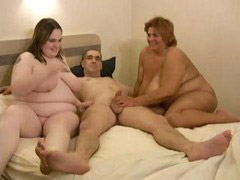 Two in one, Two cocks in, Two bbw, Two one cock, Threesome bbw, Three cocks in one