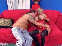 Bus, Blonde mature, Mature blond, Busting, Very blonde, Mature dirty