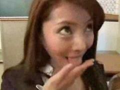 Asian swallowing, Asian teacher, Sperm, Asians teacher, Sperm swallow, Asian student