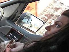 تميل, حورية, داخل سيارات, مف, سيارة