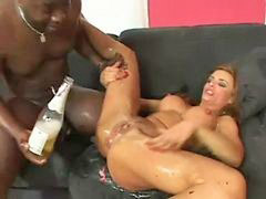 Fisting, Squirt, Swallow, Interracial, Squirting