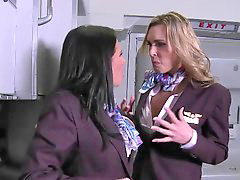 First, Ass, Class fucked, 2 in 1, Clothed, Stewardess