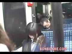 Frikis, Autobus colegialas, Colegiala en el bus, En el bus, Friki, Mamada jovencita