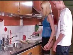 In kitchen, Young, blonde, Kitchen fucks, Kitchen fuck, Fuck in kitchen, Fucking in kitchen