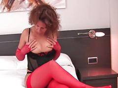 Lingerie, Hairy, Hairy brunette, Mature masturbation, Hairy vagina, Asian stockings