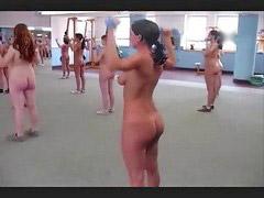 Nudist, Aerobics, Aerobic, Nudisták, Nudists, Rob