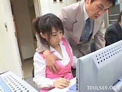 Blowjobs office, Japanese cute, Japan office, Oosawa, Yuuka, Office japanese