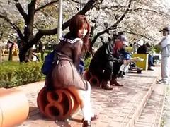 Sekolahan jepang siswi, Diluar ruangan asia jepang, Di luar ruangan asia jepang, Gadis cilik siswi sekolahan, Jepang menikmati, Asian jepang gadis