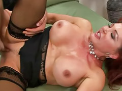 Stocking cum, Big tits sucks, Big cock blowjob, Big tit milf, Asian stockings, Head shaving