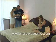 Threesome, Father, Taboo, Sex, Daughter, Family