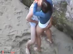 Teen, Beach, Beach sex, Teen couple, Teen sex, Sex teen
