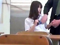 Schoolgirl gets fucked, Armpit, Schoolgirl handjob, Armpits, Class fucked, In classroom
