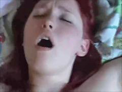 Big creampie, Tittys, Tittis, Redhead creampie, Real redhead, Real homemade