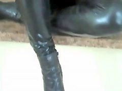 Leather, Redhead joi, Leathere, Leather leather, Redhead