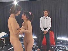 Wrestling, Yuka, Lesbian, Oosawa, Wrestling lesbian, Wrestl
