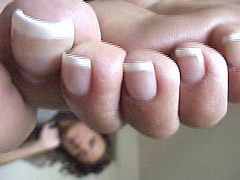 French, Raven, Pedicure, Ravenes, Pedicur