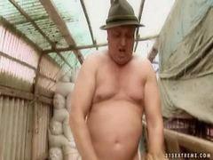 المزارع, فتاه وعجوز, Fكبار السن, نكاح مزارع, نكاح كبار السن, كبار السن يمارس الجنس