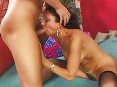 Granny, Cumming granny, High heel fuck, Hairy fuck, Granny big tits, Stocking cum