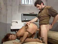 Prisoners, Prisoner, Milf dp, French dp, French milf, In prison
