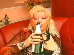 Bottle, Busty milf, Bottles, Milf bus, Bus milf, Riding bottle