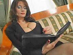 Bus, Mature, Secretary, Busty mature, Mature sex, Secretary mature