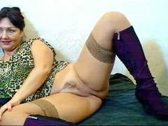 Webcam, Mom, Hairy, Russian
