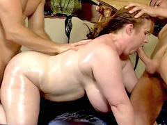 Two milfs, Two man, Redheaded milf, Redhead milf, Red head milf, Red milf