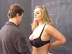 Busty, College, Class fucked, In ass, In classroom, Bus blonde