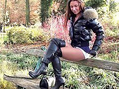 Boots, Public, Mini, Skirt sex, Lore, Kirt