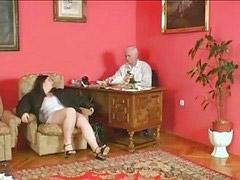 Grandpa fucks, V,sn, Wife by, Plumping, Plumped, Grandpa fuck